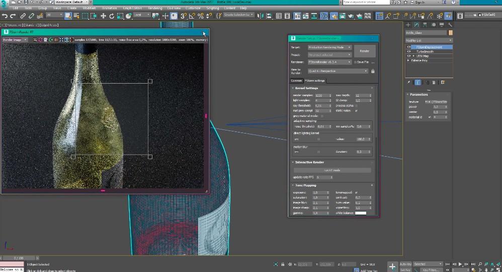 VIDEO TUTORIAL Packshot Lighting with FStorm in 3ds Max - Video Tutorial  with 3ds Max on Tuto com