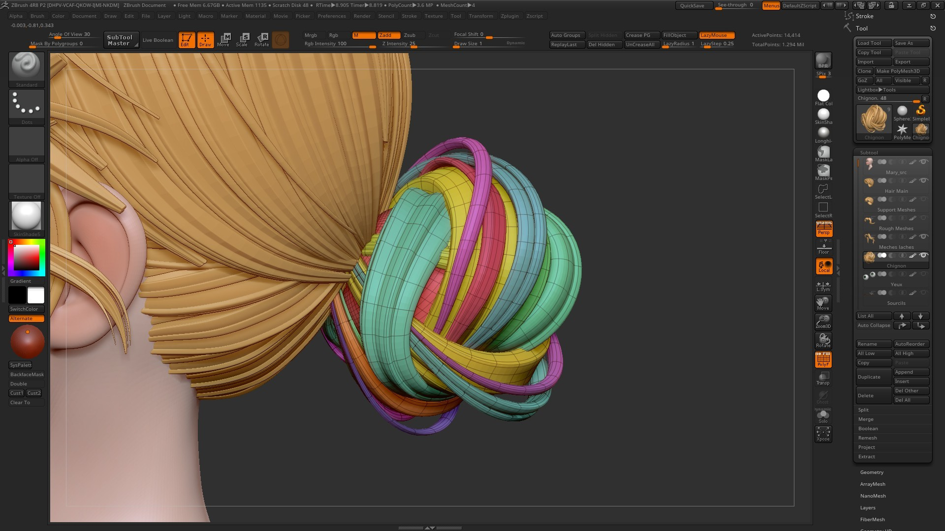 VIDEO TUTORIAL Sculpting Hair in ZBrush with ZBrush on Tuto com