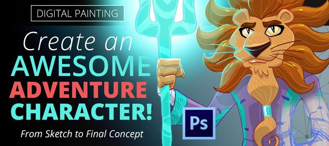 Video Tutorial Digital Painting: Create an Awesome Adventure Character! Photoshop