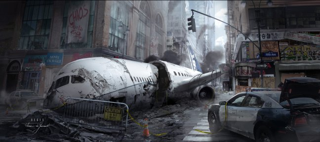 Concept Art photorealistic for a AAA video game with Photoshop