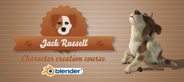 Video Tutorial Jack Russel : Full character creation course for Blender3D Blender