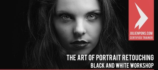 Tuto The Art of Portrait Retouching - Black and White - Complete video course Photoshop