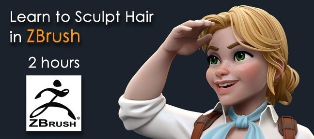 Video Tutorial Sculpting Hair in ZBrush ZBrush